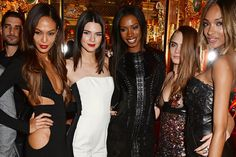 Joan Smalls, Kendall Jenner, Sigail Currie, Cara Delevigne, and Jourdan Dunn
