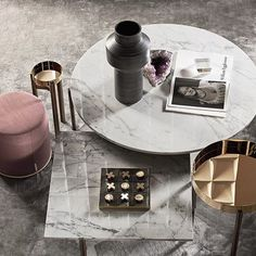 Cantoni Trade I Gallotti & Radice Coffee Table Arrangements, Coffee Table Accessories, Desktop Decor, Pink Marble, Center Table, Nesting Tables, Furniture Collection, Living Room Interior, Table Furniture