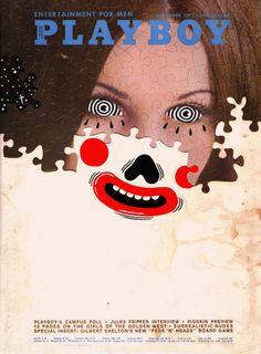 OLD PLAYBOY COVERS, 'DOODLE-BOMBED' Source: Old Playboy covers, 'doodle-bombed' | Dangerous Minds Vintage Illustration Art, Photo Illustration, Illustrations, Gilbert Shelton, Playboy Cartoons, Vintage Playmates, Fashion Magazine Cover, Magazine Covers, Magazine Wall