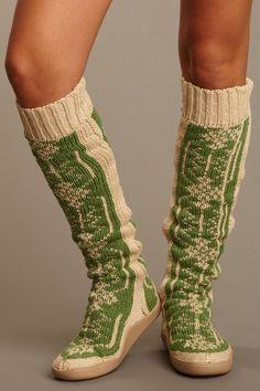 Snowflake Knit Boot.