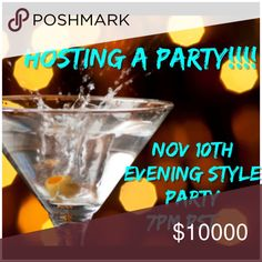 Hosting my 3rd Party!!! Friday Nov 10th 7pm PST Come join me!! Looking for amazing Host Picks from Posh Compliant closets!! More so from poshers who are newer or have not had any or many Host Picks!!! Or those who just need an exposure boost to their closets let me know ill do my best!!!! Tag me some awesome Poshers! Cant wait to find out the theme!!! Other