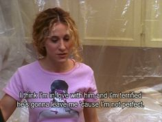 Sex and the City was an iconic show for its time: four women talking about love, life — and sex. Here are Carrie Bradshaw's best quotes Sex and the city quotes (featuring Sarah Jessica Parker, of course) City Quotes, Movie Quotes, Im In Love, Im Not Perfect, Rockabilly, Nostalgia, Hipster, Favim, Loving Someone