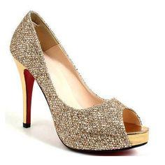photos of gold wedding shoes | Wedding Lady: Light Gold Bridal Shoes