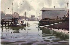 Daniel Marshall, Essex Island Fishermen 12x19 #watercolor jd