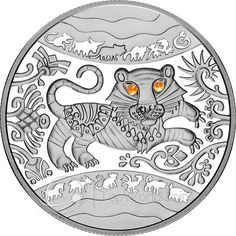 Ukraine 2010 5 Hryvnia's Year of the Tiger Proof Silver Coin :: Top World Coins