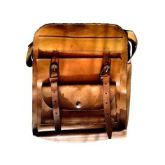 Vintage leather men bag 80s brown leather travel by PetarsVintage. , via Etsy.