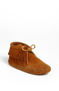 Minnetonka 'Classic Fringe' Boot (Walker, Toddler & Little Kid) available at #Nordstrom
