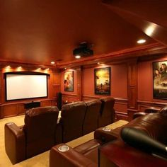 Home theater I love the movie boxes!!!