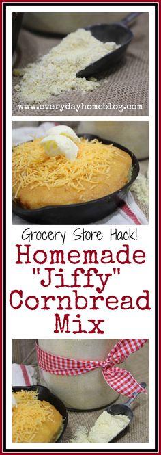 Homemade Cornbread Mix from The Everyday Home  #recipe #kitchenhack #diy  #budget
