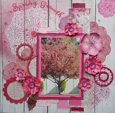 Layout: Spring Growth ~ Scrapbooking Inspiration ~ ♥ #scrapbooking #crafts #diy