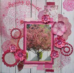 Layout: Spring Growth ~ Scrapbooking Inspiration ~ ♥ #scrapbooking #crafts #diy