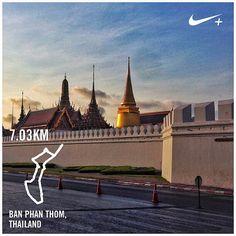 #nikeplus #running #nikerunning #goodmorning #morningrun #run #bangkok #bkk #kingdom #palace #thai #thailand #fortress #fort #laripagi #lari