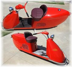 ☺ 1948 Salsbury 85 - Very Rare Made by Northrup Aircraft ☺ Visit ► http://TheScooterMall.com #scooters #vintagescooter #classicscooters #vintagescooters #vespascooter #salisburyscooter #salisburyscooters