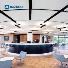 """The Dyson Institute has the ambition of being the best higher education engineering institution in the world. To succeed, a great acoustic environment need to be in place. Rockfon Eclipse® ceiling islands are installed as the best option. """"We chose Rockfon because we were looking to construct a floating, acoustic ceiling and found Rockfon Eclipse system to be the best product to realise this intent"""". #SoundsBeautiful #Rockfon #acousticceiling #schooldesign #modernceiling #inspiration Acoustic Design, Sound Absorption, Higher Education, School Design, Education Architecture, Modern Ceiling, Round House, Ambition, Perfect Match"""