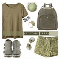 """Military green"" by simona-altobelli ❤ liked on Polyvore featuring Ash, Diane Von Furstenberg, Sheinside, MyStyle, Gogreen, polyvorecontest and shein"