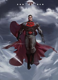 Red Son Superman by peng nanfeng