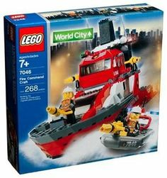 Lego City Fire Rescue Fire Command Craft (7046) by Toys. $149.90. Build your LEGO collection with this set. Contains 268 pieces. Encourages imaginative play. Makes a wonderful gift for any occasion. Rescue boat included. Help the fire chief and two firefighters put out the flames and save boaters. Launch the dinghy from the rear of the craft on emergency rescue missions. Open the bridge to put the fire chief inside, and lift the deck to access the command center below. ...