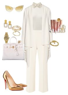 White#1 by cherhorowitz95 on Polyvore featuring polyvore fashion style Donna Karan Valentino Delpozo Christian Louboutin Hermès Rolex Roberto Coin Louis Vuitton Chanel Lucifer Vir Honestus Tory Burch Tom Ford clothing