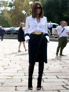 Milaan Fashion Week s/s 2014 - Streetstyle @ witteboordencriminaliteit #milan #milaan #fashionweek #streetstyle #ELLE