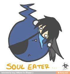 Black Butler/Soul Eater Crossover. Aww. Look at Sebastian.
