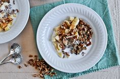 Coconut Milk Breakfast Quinoa...would work without the banana, maybe peaches