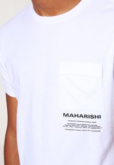 Maharishi Print T-shirt - white - Zalando.co.uk
