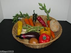 Artificial Faux Fake Fruit and Vegetables Prop Staging Restaurant Decor Kitchen