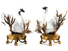 Meissen swan centerpieces, circa 1780-1790.