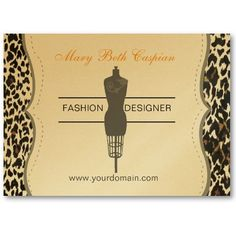 Fashion designer business card with bust form. This business card is also great for fashion bloggers, bespoke fashion studio, seamstress and more.