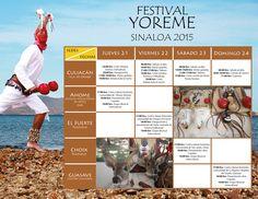 Programación general del Festival Yoreme Sinaloa 2015. Del 21 al 24 de enero de 2016. #Ahome | #ElFuerte | #Choix | #Guasave | #Culiacán