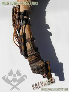 Post Apocalyptic costume - piston-assisted arm brace for Airsoft/LARP. SALVAGED Ware enquires always welcome @ www.markcordory.com
