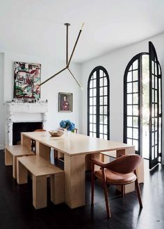 Dining room furniture ideas that are going to be one of the best dining room design sets of the year! Get inspired by these dining room lighting and furniture ideas! Dining Room Design, Dining Room Furniture, Dining Rooms, Dining Area, Cafe Furniture, Furniture Ideas, Furniture Design, Vogue Living, Dining Room Inspiration