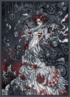 "Candra. Example image: ""Emilie Autumn - magic violin."" Website:  http://candra.deviantart.com"
