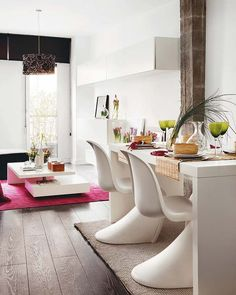 comedor Incredible-Duplex-Apartment-Madrid-kitchen