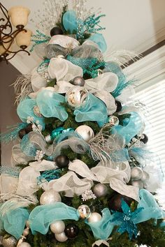 Christmas Chic Tiffany Blue Ribbon Tulle by TheFrenchSecret, $13.99