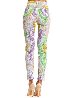 Gianni Versace Baroque Print High-Waisted Jeans Summer Denim, Gianni Versace, High Waist Jeans, Baroque, Pajama Pants, Womens Fashion, Fabric, Tejido, High Waisted Mom Jeans
