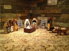 Christmas Nativity, Christmas Humor, Christmas Lights, Holiday Fun, Christmas Holidays, Merry Christmas, Christmas Ideas, Holiday Ideas, Alcohol Bottles