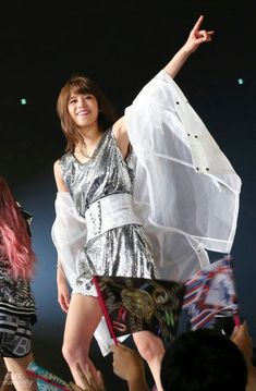 Japanese Girl Group, Stage Outfits, Kimono Top, Kpop, Formal, Girls, Flowers, Women, Style