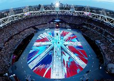Damien Hirst designed the union jack for the closing ceremony of the 2012 London Olympics.