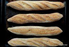 Pan di Pane: Ricetta Baguettes con quasi 70% d'idratazione. (versione 1.1) Hot Dog Buns, Hot Dogs, My Favorite Food, Favorite Recipes, Baguette, Bread, Pizza, Brot, Baking