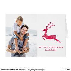 Feestelijke Rendier fotokaart van Kerstmis Card