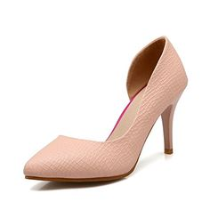 BalaMasa Womens Spikes Stilettos Pointed-Toe Pull-On Pink. Stilettos, Pumps, Heels, Pink Dress Shoes, Spikes, Toe, Fashion, Zapatos, Choux Pastry