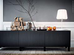 ikea_jul_stocksund_inspiration_2-790x593 Ikea Inspiration, Interior Design Inspiration, Arch Interior, Interior Styling, Ikea Candles, Black Buffet, Ikea Christmas, Ikea Living Room, Christmas Inspiration