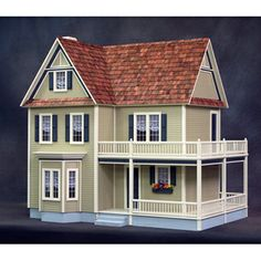 Victoria's Farmhouse Dollhouse Crafts Kit.  ...this one reminds me of Hubby's grandparents' real life home!
