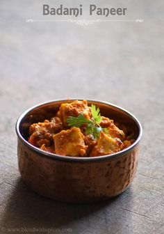 Badami Paneer #Recipe - An Indian side dish made with cottage cheese and almonds - Step by step recipe - blendwithspices.com
