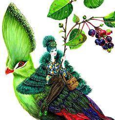 Little bird fly me away... ____________________________________ #sunnygu #bird #nature #naturelove #green #fashion #illustration #watercolor #fantasy #fashionillustration #girl #glamour #instaart #fashionista #instamood #instadaily #style by happysunnygu