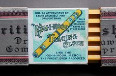Letterology: Pencil Points | Koh-i-noor drawing pencil box from Czechoslovakia, circa 1890s.
