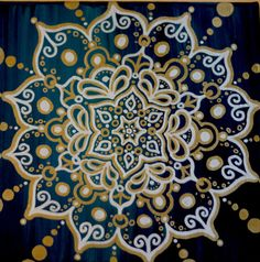 Hey, I found this really awesome Etsy listing at http://www.etsy.com/listing/118269384/gold-silver-mandala-original-acrylic