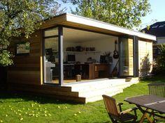 Garden Office Ideas - Garden Office Pods and Garden Office Shed Garden Office Shed, Backyard Office, Outdoor Office, Backyard Studio, Garden Studio, Outdoor Rooms, Outdoor Living, Backyard Ideas, Garden Ideas