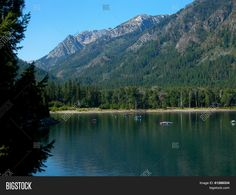 Beautiful Wallowa Lake is located in eastern Oregon. ©Photo copyright by Marty Nelson. Photographer website: http://www.bigstockphoto.com/search/?contributor=Marty+Nelson+Photo+Art&safesearch=n